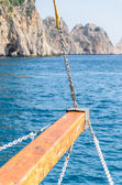 Rigging the sailing yacht — Stock Photo