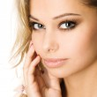 Close-up studio portrait of a beautiful sexy young woman — Stock Photo #11693195