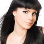 Close-up studio portrait of a beautiful fresh brunette girl, iso — Stock Photo #11699758