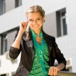 Beautiful woung businesswoman - Stock Photo