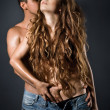 Foto Stock: Young sexy couple