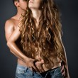 Young sexy couple — Stock Photo