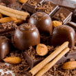 Delicious chocolate mix — 图库照片