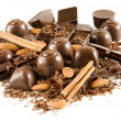 Delicious chocolate mix - Stok fotoraf