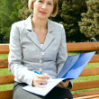 Adult businesswoman outdoors — Stock Photo