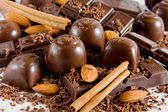 Delicious chocolate mix — Stock Photo