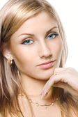 Lovely blond with blue eyes — Stockfoto