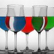 Royalty-Free Stock Photo: Multi-colored glasses