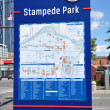 Information sign, Calgary - Stock Photo