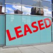 Stock Photo: Leased Sign