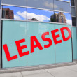 Leased Sign — Stock Photo