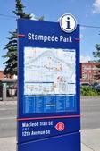 Information sign, Calgary — Stock Photo