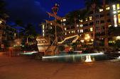 Kids pool at night, Maui — Stock Photo