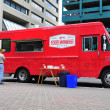 Stock Photo: Red Wagon food truck