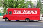 Caminhão de comida vagão vermelho — Foto Stock