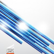 Blue straight lines abstract background — Stock Vector