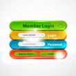 Stock Vector: Vector web login form