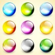 Set of color glossy spheres — Stock Vector #11105322