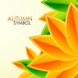 Autumn leaves vector background — Stock Vector