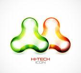 Hi-tech liquid abstract icon — Stock Vector