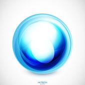 Vector abstract swirl round shape — Stock Vector