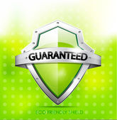 Eco friendly guarantee shield — Stock Vector