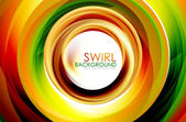 Swirl abstracte achtergrond — Stockvector