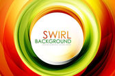 Swirl abstract background — Stock Vector
