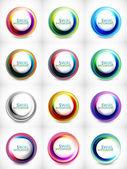 Big set of abstract swirls — Stock Vector