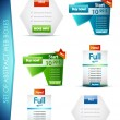 Royalty-Free Stock Vectorielle: Set of vector web boxes