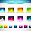 Vector glowing glass buttons - Stock Vector