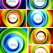 Swirl abstract background set — Stock Vector #11843568