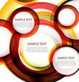 Vector abstract circles. Banner with sample text — Stock Vector