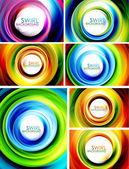 Swirl abstract background set — Stockvektor