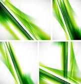 Green lines background — Stock Vector