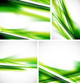 Green lines background set — Stock Vector