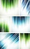 Set of abstract line backgrounds — Stock Vector