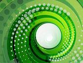 Green swirl vector abstract background — Stock Vector