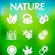 Nature vector icons — Stock Vector