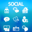 Social internet vector icons - Stock Vector