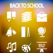 Back to school vector icons - Stock Vector