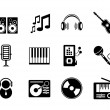 Vector music icons — Stock Vector