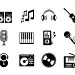 vektorové hudební ikony — Stock vektor #12215803