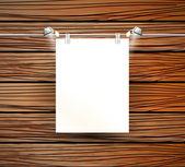 ポスターや木製の壁のためのベクトル場所 — ストックベクタ