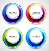 Vector swirl set — Stock Vector