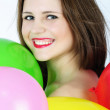 Bright beautiful girl with air ball — Stock Photo