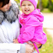 Stock Photo: Little girl on walk with mum