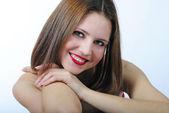 Portrait bright beautiful girl — Stock Photo