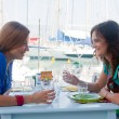 Stock Photo: Two women in cafe