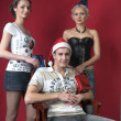 Christmas group of young — Stock Photo #11894410